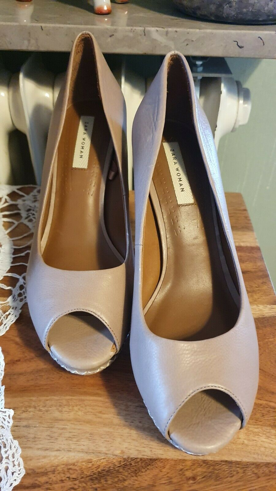 ❤ BEAUTIFUL PUMPS SHOES SIZE 39 Sara Real Leather Slots ❤
