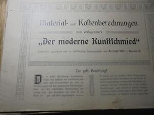 Antiquarische Bücher Intelligent 22201 Müller Berthold Der Moderne Kunstschmied 40 Tafel Vorlagen 1908 Gitter Tor Alte Berufe