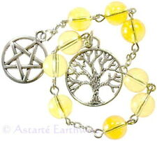 WITCHES PRAYER BEADS CITRINE FOR MEDITATION Wicca Witch Pagan Goth