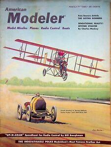 Vintage American Modeler Magazine Feb 1960 Up-N-Adam Speedboat R/C  m1003