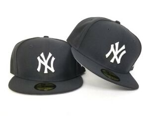 6395dd7ae1747e New Era Dark Gray New York Yankees 59Fifty Gray Bottom Fitted hat ...