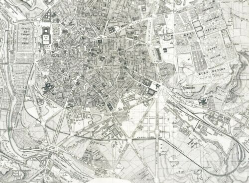 MAP ANTIQUE MORALES 1866 MADRID CITY PLAN OLD LARGE REPLICA POSTER PRINT PAM1141