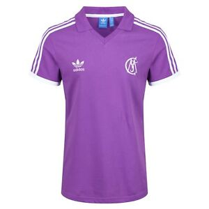 new arrivals 050f6 5e8b5 Details about adidas ORIGINALS RETRO REAL MADRID JERSEY PURPLE FOOTBALL  SOCCER MEN'S
