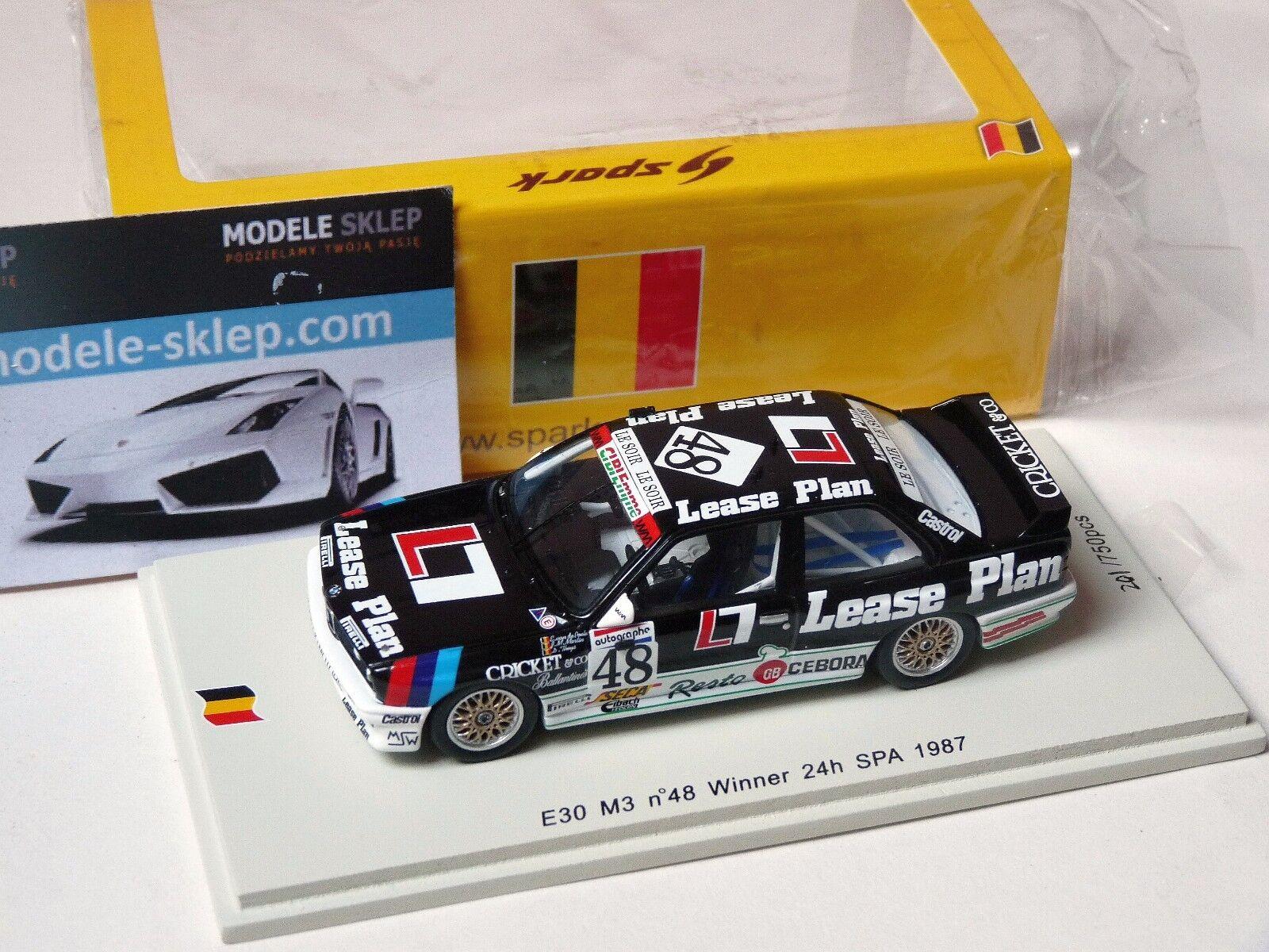 Spark 1 43 BMW E30 M3 Winner 24hrs SPA 1987 SB067 VAN DE POELE Martin Theys