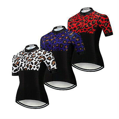 Ladies Cycling Jersey Shirt Short Sleeve Bike Clothes Cycle Jersey Top Women