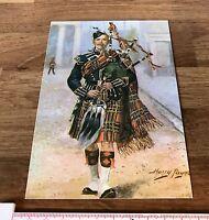 1980's Vintage Military Postcard Scots Guards Harry Payne Rendition