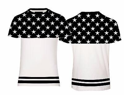 Nouveau homme toucher doux tee urban faded colorblock stars tee t-shirt coupe standard