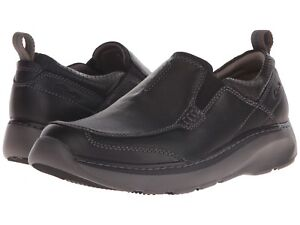 0b661c72eaa4 Details about Clarks CHARTON STEP Mens Black Leather 14995 Slip On Comfort  Shoes