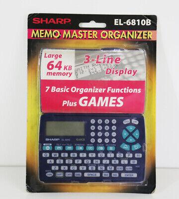 Sharp Memo Master Electronic Organizer El-6810b 64kb Memory & Games New Mooie Glans