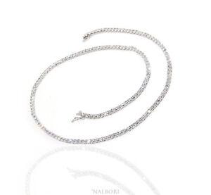 comprare popolare a1f21 cd62d Dettagli su NALBORI collier collana tennis argento 925 zircone bianco 2,5  mm brillante