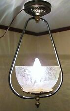 "Refurbished Hanging Harp Light Lamp 4 3/4"" Lamp Shade Holder Fixture Only"
