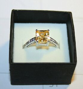 Canary-Yellow-Diamond-Alternatives-Princess-Promise-Ring-White-14k-Gold-over-925