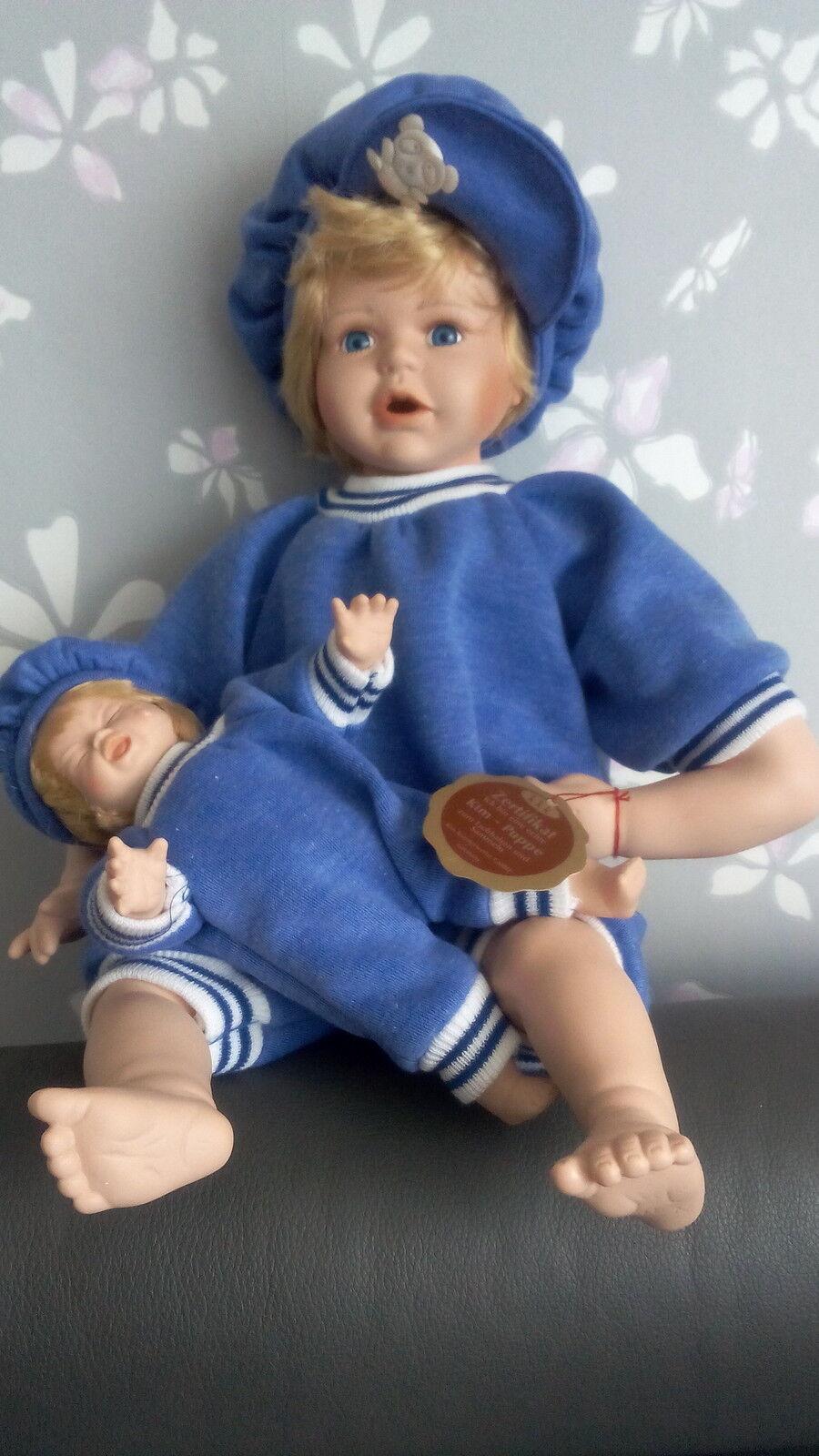 2 x Kim Puppe Pozellanpuppe Sammlerstück neu