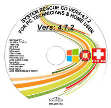 REPAIR & RECOVER + PARTITION WIN 7 XP VISTA System Rescue DVD 4.7.2