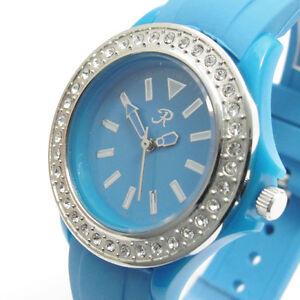 Reflex-Ladies-Rubber-Strap-Watch-Diamante-blue-Bargain