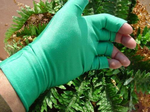 Sun Checkers lycra SIZE S nylon UV BLOCKING GLOVES open half finger