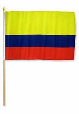 "12x18 12""x18"" Wholesale Lot of 3 Colombia Stick Flag wood staff"
