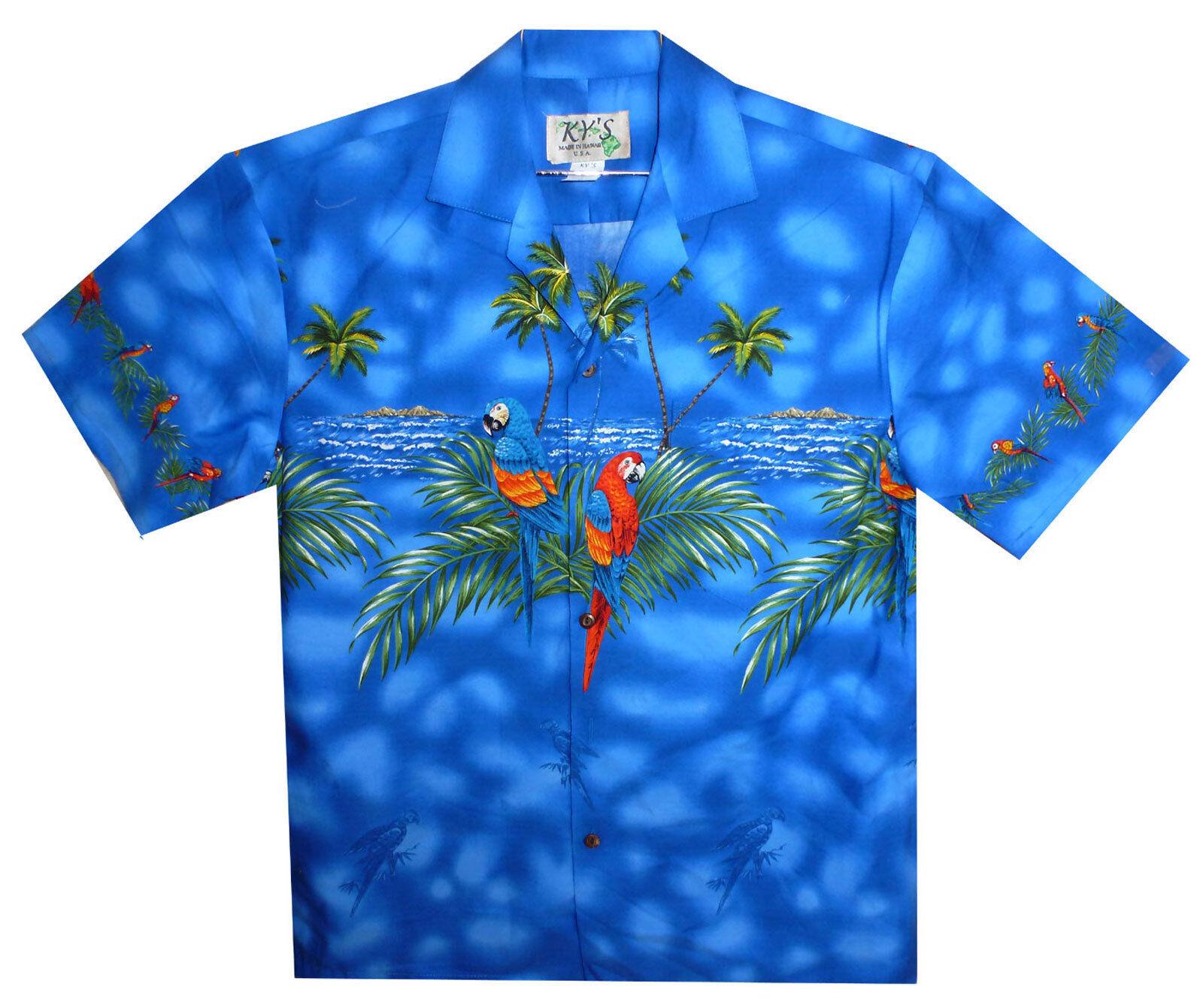 KY´s Original Hawaihemd Hawaiishirt Hawaii Papageien S M L XL