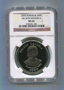 NGC-Certified-MS-66-Somalia-2000-Nelson-Mandela-250-Shillings-Rare-Coin