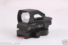 QD Quick Release 4 Reticle Red/Green Illuminated Reflex Sight Laser Weaver 20mm