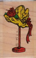 Millinery Rack Stampressions Wood Mounted Rubber Stamp 1 1/2x 2 1/2