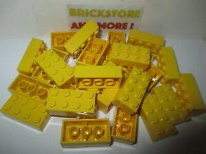 Lego-Brique-Brick-2x4-4x2-3001-Yellow-Jaune-Choose-Quantity-x2-x20