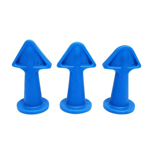 3Pcs Caulking Sealant Finisher Nozzle Tools Rubber Grout Scraper Window Tiles NF