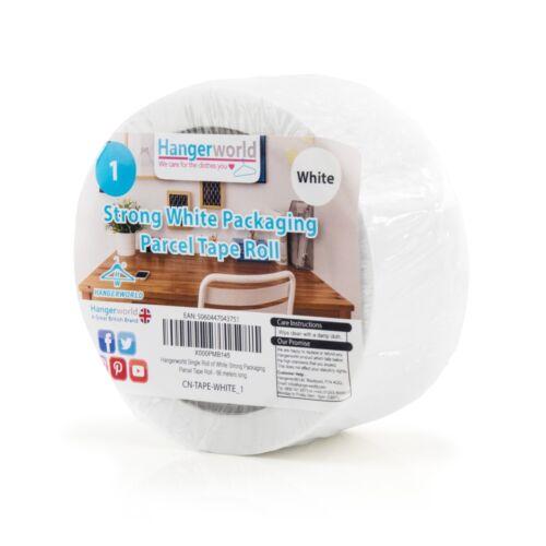 Hangerworld™ 66m White Strong Packaging Parcel Postal Sticky Tape