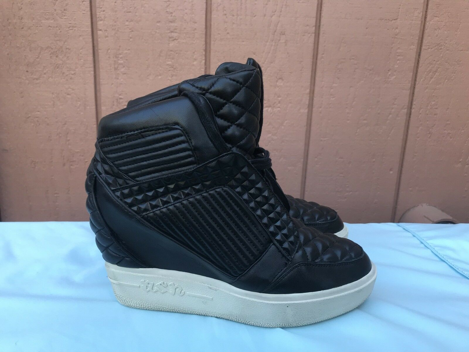 Usado en excelente estado Raro Ceniza Para Para Para Mujer EUR 40 US 9.5 - 10 Negro Zapatillas De Moda Azimut Nappa A2  marca