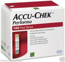 May 18 EXP Accu Chek Performa & NANO 100 Test Strips for Blood Sugar Glucometer