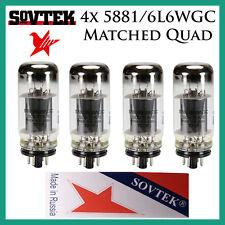 New 4x Sovtek 5881 / 6L6WGC / 6L6   Matched Quad / Quartet / Four   Power Tubes