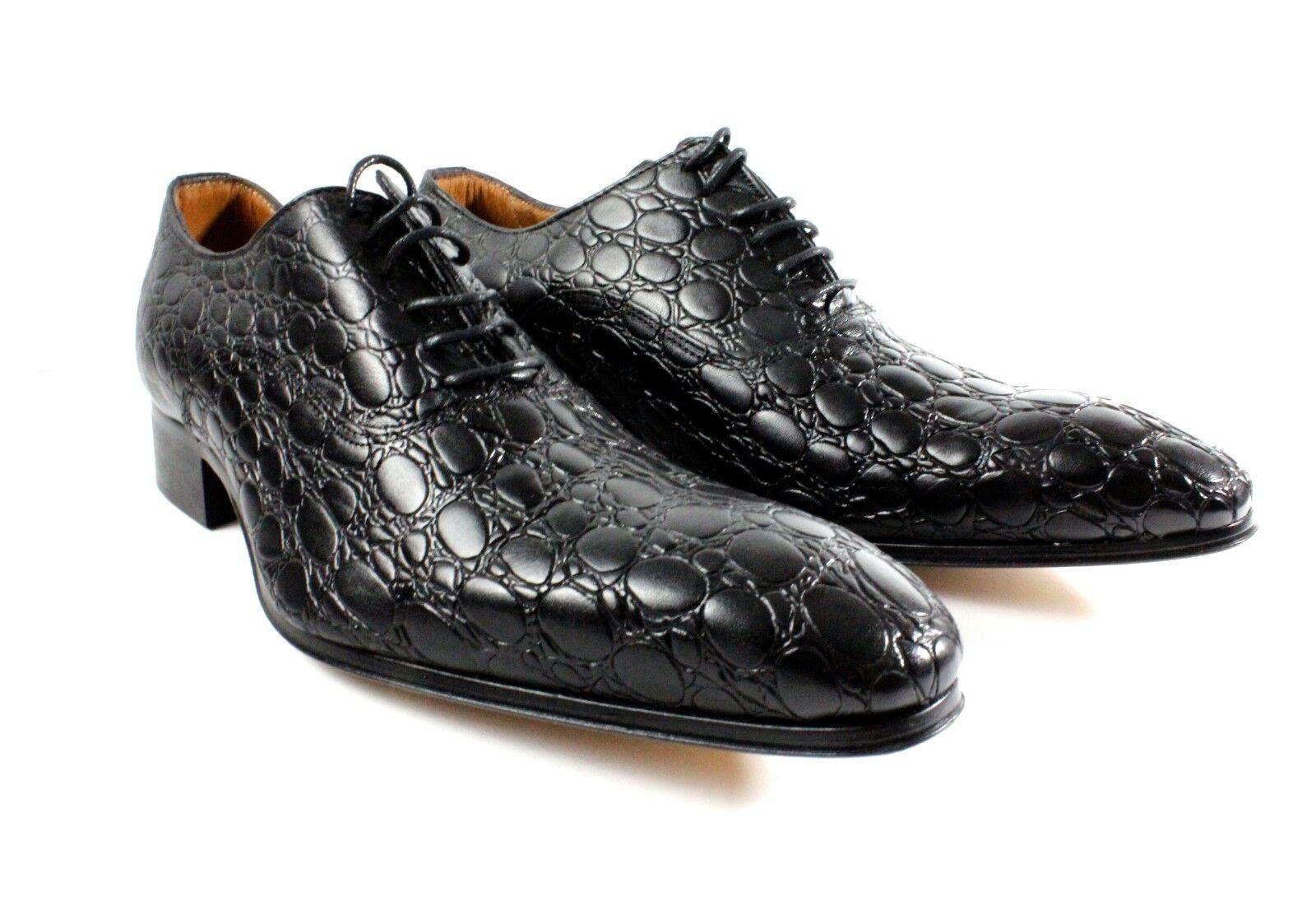 IVAN TROY Black Handmade Italian Leather Dress shoes Oxford shoes Men shoes