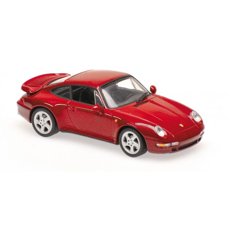 Maxichamps 940069200 Porsche 911 Turbo 993 Rouge Métallisé 1993 Échelle 1 43