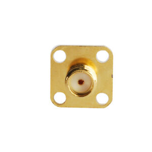 5x-SMA-Female-Chassis-Flange-6mm-Panel-Mount-4-Hole-RF-Solder-Connector-Adapter
