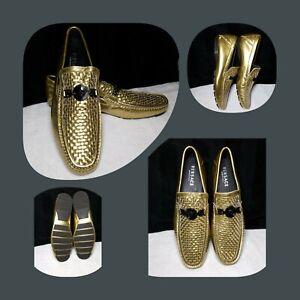 Versace Greca Medusa Loafers Metalic