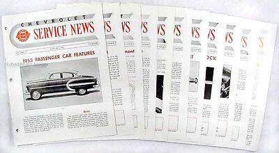 1953 Chevrolet Service News Set Chevy Manuell Hochwertige Materialien