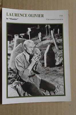 (s32) Starfilmkarte - Laurence Olivier - Hamlet Bequemes GefüHl