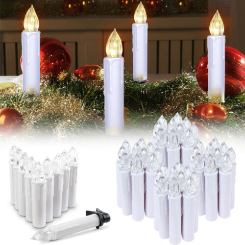 40X LED Weihnachtskerzen Deko Lichterkette Kabellos Baumkerzen Lichter inkl.FB