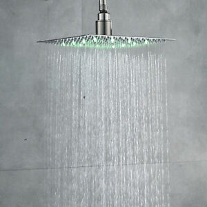 Image Is Loading 10 Inch Led Square Rain Shower Head Over