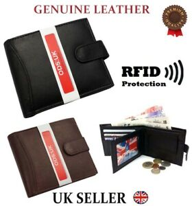 NEW-MENS-SOFT-GENUINE-REAL-LEATHER-BIFOLD-WALLET-CREDIT-CARD-HOLDER-PURSE-DESIGN