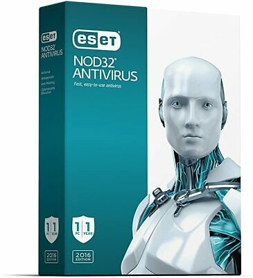 ESET NOD32 ANTIVIRUS 2020 1 YEAR 5 PC's GENUINE ACTIVATION ...