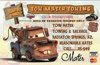 Tow Mater Towing License. 2 1/2 X 4 Fridge Magnet. Disneyland Cars...free Ship