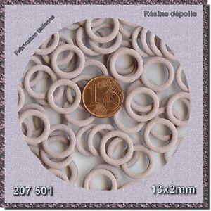 Audacieux 207501 *** 50 Anneaux Résine Dépolie Parme Clair 13x2mm Grand Assortiment