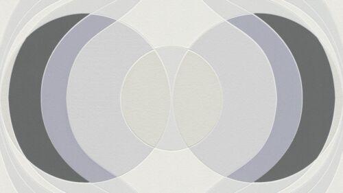 Silver Hotspot Retro Style Big Circle Wallpaper Black Grey and White