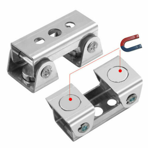 2-20x V-type Clamps Welding Suspender Fixture Adjustable Magnet V-Pads Hand Tool