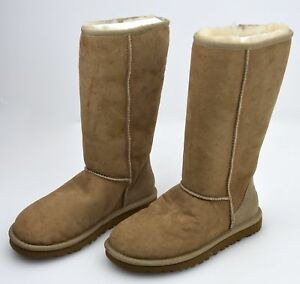 9e660cb5912 Details about UGG AUSTRALIA WOMAN HIGH MID CALF BOOTS BOOTIES W CLASSIC  TALL 5815 W DEFECT
