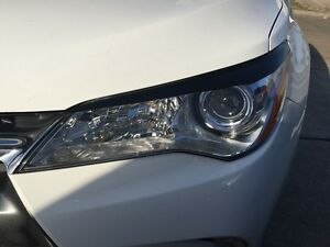 Details About Precut Eyelid Overlays Eye Brows Gloss Black For 2017 Camry Headlight