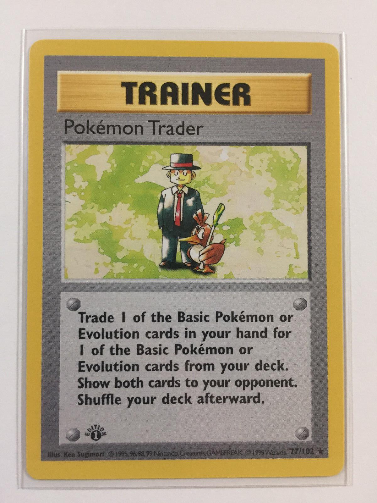 Pokémon - trader - erstausgabe basis - satz - minze