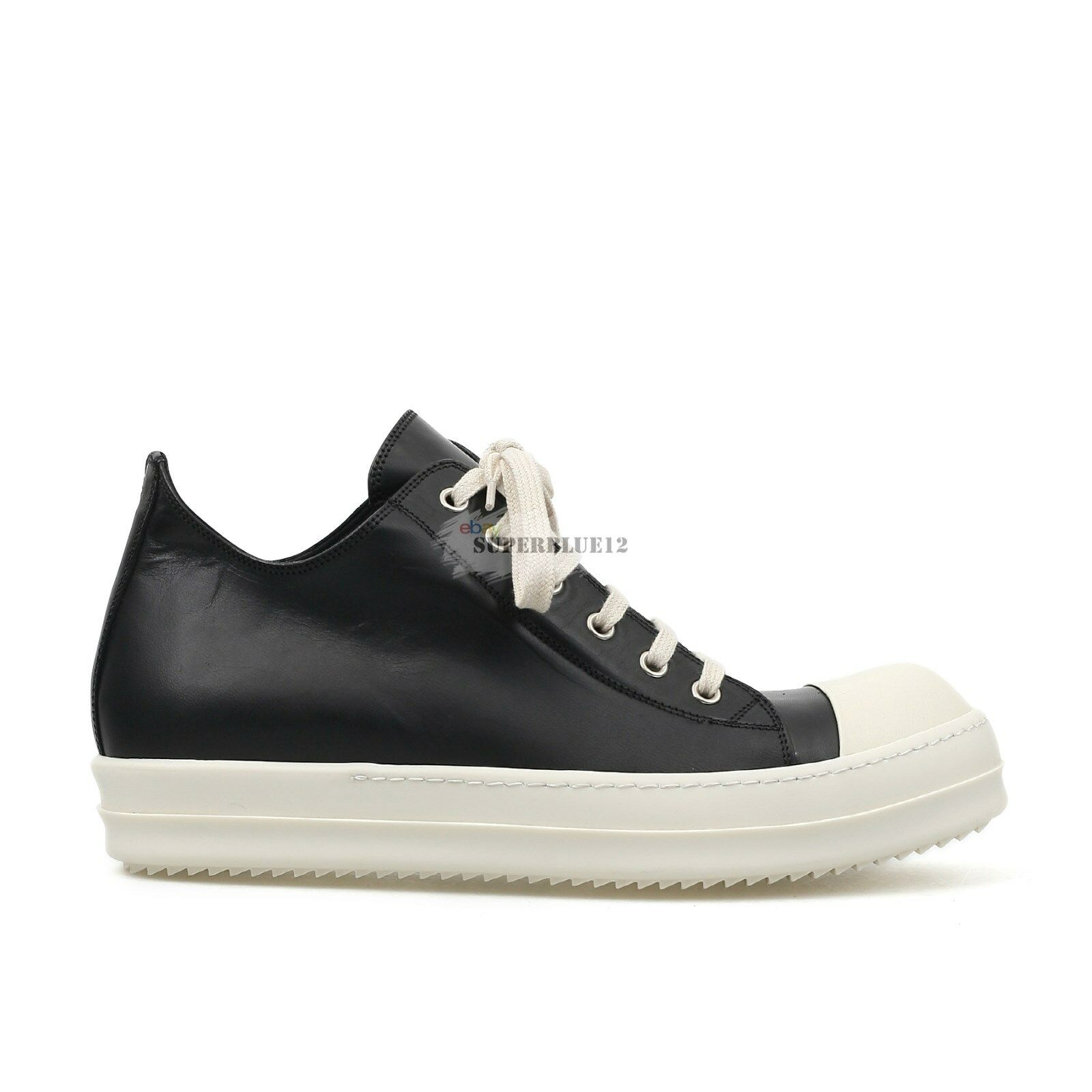 RICK OWENS LEATHER LOW SNEAKERS HORSE LEATHER FREE SHIPPING