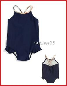 2380d51e70d1 BURBERRY INFANT LUNDY ONE-PIECE SWIMSUIT NAVY 6 or 12 MONTHS or 2 ...